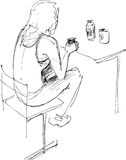sztuka ucznie Ilustracji