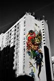 Sztuka ulicy Barwi który raduje się zdjęcie royalty free