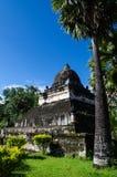 Sztuka w świątyni, Antyczna świątynia, Laos. Zdjęcie Royalty Free