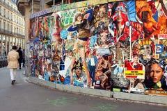 Sztuka w ulicie - Paryż Zdjęcia Stock