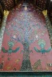 Sztuka w Xieng Paska świątyni, Antyczna świątynia, Laos. Zdjęcia Stock