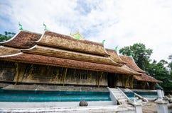 Sztuka w Xieng Paska świątyni, Antyczna świątynia, Laos. Fotografia Stock