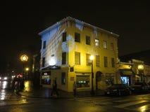 Sztuka Współczesna eksponat na budynku w Georgetown fotografia royalty free