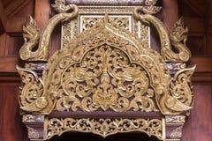 Sztuka wzór w Świątynnym Chiang Mai Tajlandia Wat baranie Poeng obrazy stock