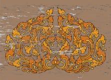 Sztuka wzoru krzywy stylu wektor Zdjęcie Stock