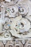 Sztukateryjna biała rzeźba dekoracyjna obrazy stock