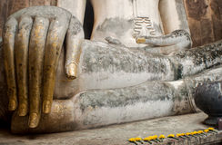 Sztukateryjna Buddha wizerunku Buddha ręka Fotografia Stock