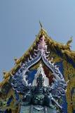 Sztukateryjna sztuka przy Watem Rong Sua Dziesięć, Chiang Raja prowincja, Tajlandia Zdjęcie Stock