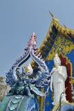 Sztukateryjna sztuka przy Watem Rong Sua Dziesięć, Chiang Raja prowincja, Tajlandia Zdjęcia Royalty Free
