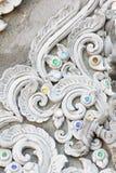 Sztukateryjnej białej rzeźby dekoracyjny wzór obraz royalty free