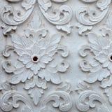Sztukateryjnej białej rzeźby wzoru ściany projekta kwadrata dekoracyjny format Obrazy Stock