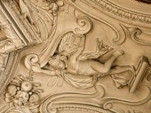 Sztukateryjnej pracy Eggenberg inside pałac Fotografia Stock