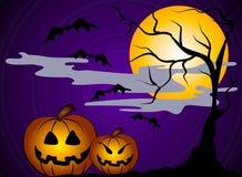 sztuki 2 magazynki Halloween dyni Zdjęcia Stock