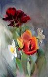 Sztuki abstrakcjonistyczna farba ilustracja wektor