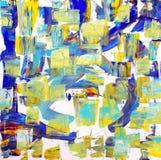 Sztuki abstrakcjonistyczna farba z akrylowymi kolorami ilustracji