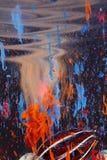 sztuki abstrakcjonistycznej cieczy Obraz Royalty Free