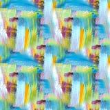 sztuki abstrakcjonistycznej tło malująca tło ręka Akrylowy obrazek bezszwowy wzoru ilustracja wektor