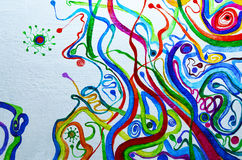 sztuki abstrakcjonistycznej tło Obraz olejny na kanwie Stubarwna jaskrawa tekstura Czerep grafika ilustracja wektor
