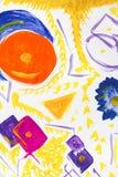 sztuki abstrakcjonistycznej tło Obraz olejny na kanwie Stubarwna jaskrawa tekstura Czerep grafika Punkty nafciana farba brushstro ilustracja wektor
