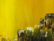 sztuki abstrakcjonistycznej tło Ręka rysujący akrylowy obraz Zdjęcia Stock