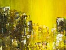 sztuki abstrakcjonistycznej tło Ręka rysujący akrylowy obraz Obrazy Royalty Free