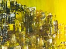 sztuki abstrakcjonistycznej tło Ręka rysujący akrylowy obraz Kolorowy c Fotografia Stock