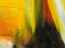 sztuki abstrakcjonistycznej tło Ręka rysujący akrylowy obraz Kolorowy c Zdjęcie Stock