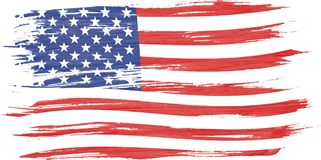 Sztuki akwareli szczotkarski obraz usa flaga ilustracji