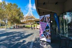 Sztuki Centre Melbourne reklama w sztuki dzielnicie Zdjęcie Royalty Free