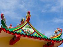 sztuki chińczyka dachu świątynia Fotografia Royalty Free