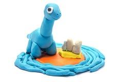 Sztuki ciasta brachiosaurus na białym tle Zdjęcie Royalty Free