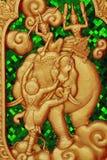sztuki cyzelowania ramayana stiry tajlandzki Obrazy Royalty Free