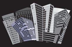 sztuki czarny miasta wektoru biel Obrazy Royalty Free