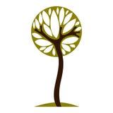 Sztuki czarodziejska ilustracja drzewo, stylizowany eco symbol Wglądu vec Zdjęcie Stock