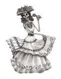 Sztuki czaszka śpiewa pieśniowego dzień nieżywy festiwal Obraz Royalty Free