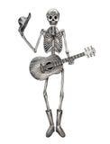 Sztuki czaszka bawić się gitara dzień nieżywy festiwal Zdjęcie Royalty Free