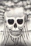 Sztuki czaszka surrealistyczna Fotografia Royalty Free