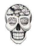 Sztuki czaszka surrealistyczna Zdjęcie Royalty Free