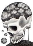 Sztuki czaszka surrealistyczna Obraz Stock