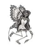 Sztuki czaszki czarodziejski tatuaż Fotografia Stock