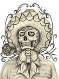 Sztuki czaszki dzień nieboszczyk Obrazy Royalty Free