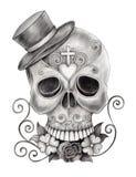Sztuki czaszki dzień nieboszczyk Obrazy Stock