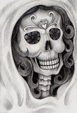 Sztuki czaszki dzień nieboszczyk Zdjęcie Royalty Free