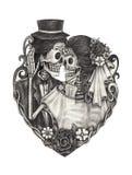 Sztuki czaszki dzień nieboszczyk Zdjęcia Royalty Free