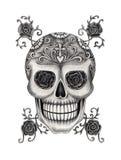 Sztuki czaszki głowy dzień nieżywy festiwal Zdjęcia Royalty Free