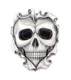 Sztuki czaszki kierowy tatuaż Zdjęcie Stock