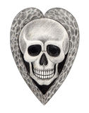Sztuki czaszki kierowy tatuaż Obraz Royalty Free