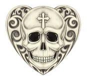 Sztuki czaszki kierowy tatuaż Fotografia Stock
