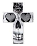 Sztuki czaszki krzyża dzień nieboszczyk Obrazy Royalty Free
