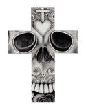 Sztuki czaszki krzyża dzień nieboszczyk Fotografia Royalty Free